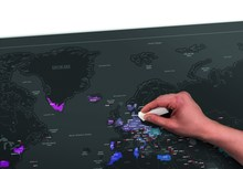 Scratch Map of The World 59.4×82.5cm