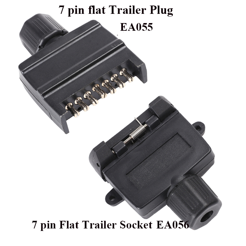 Image 5 - 12v 7 pin flat trailer plug  waterproof truck socket adapter connector caravana rv car accessory campe autoparts New Zealand-in Trailer Couplings & Accessories from Automobiles & Motorcycles