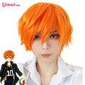 3 Стиль 25 см Мужчины Коротких Синтетических Волос Оранжевый Парик Сугавара Koushi Nishinoya Yuu haikyuu хината Аниме Косплей Парик