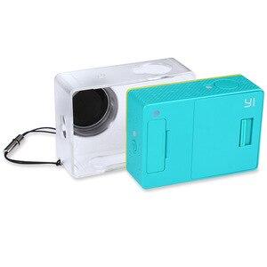 Image 3 - Verrückte Verkauf Schutzhülle Haut Für Xiaomi YI Action Kamera Accesorios Transparent Schutzhülle Mit Objektiv Kappe Für Xiao Yi