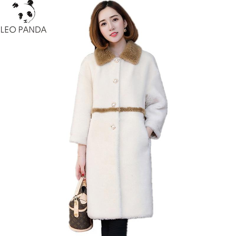 Mujer Real Camel Abrigo Rice Abrigos Corea Moda 2019 Lana De rqA0rxnf87