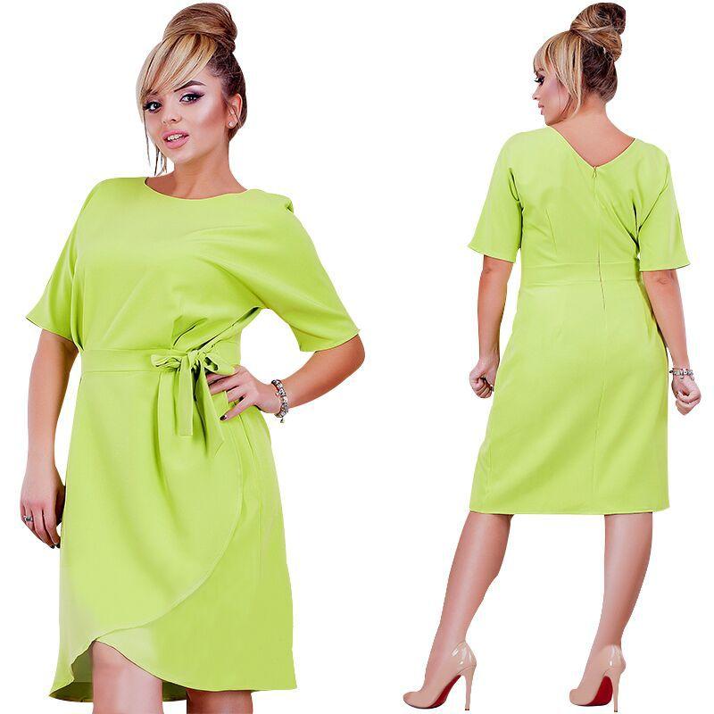 Aliexpress.com   Buy Fashion Big Size Dresses for Women Irregular Candy  Color Jurken Plus Size Women Clothing Fat MM 6XL Elegant Knot Bow Boho Dress  from ... 4191bc9fdc50