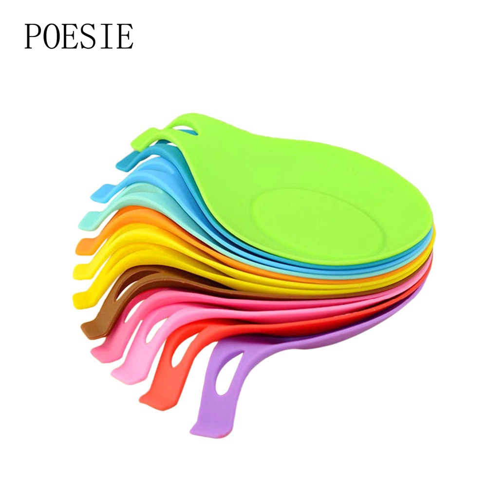 Silicone Spoon Insulation Mat Silicone Mat Pad Heat Resistant Placemat  Drink Glass Coaster Tray Spoon Pad Kitchen Accessories