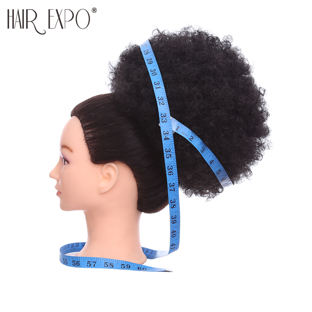10 дюймов короткие синтетические волосы пучок кулиска хвост афро пуховка шиньон для женщин кудрявые наращивание волос с зажимом