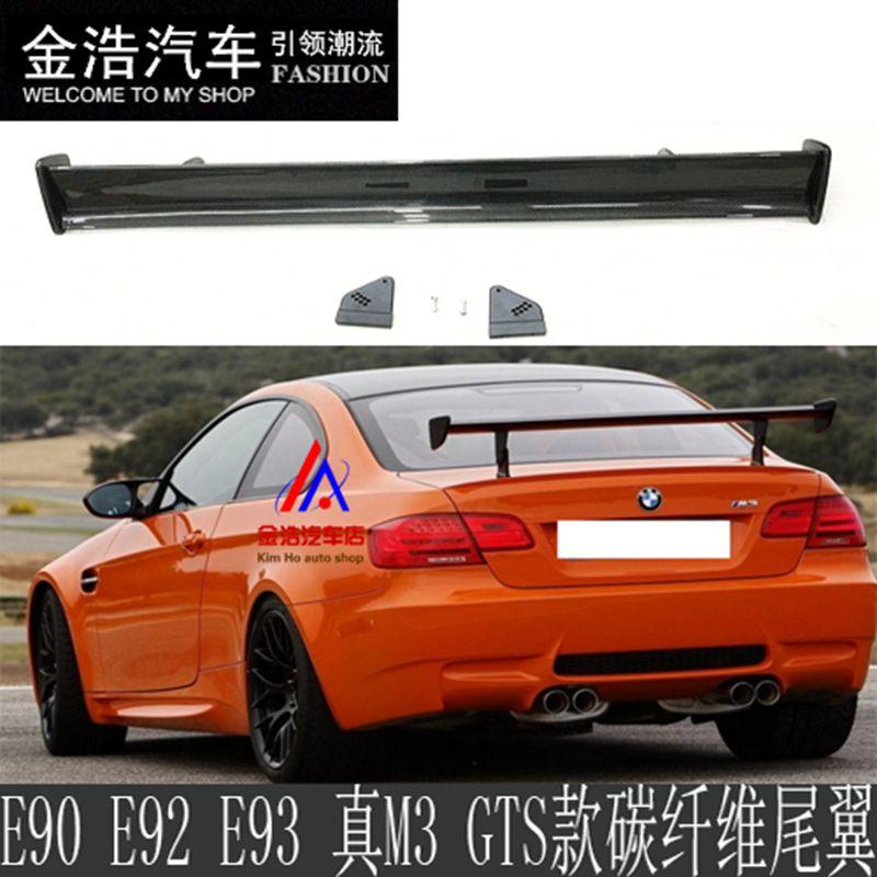 For BMW 1M M3 E82 E87 E90 E92 E93 F30 F10 Revozport Style GTS Carbon Fiber Material Rear Spoiler Tail Trunk Wing Boot Molding g t style carbon fiber front lip spoiler fit for bmw e90 e92 e93 m3