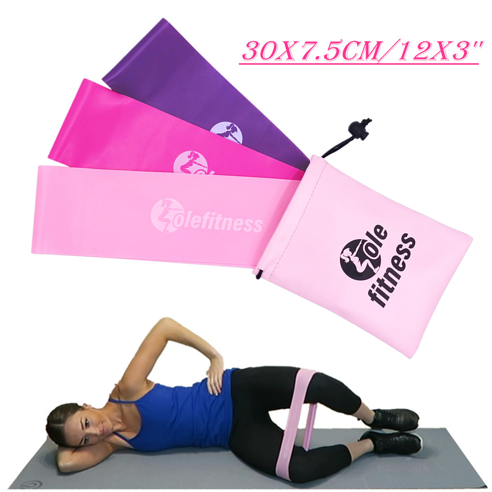 30x7.5cm Hip Resistance Bands Set Women Glute Booties Band Extra Wide Home Gym Workouts Bo