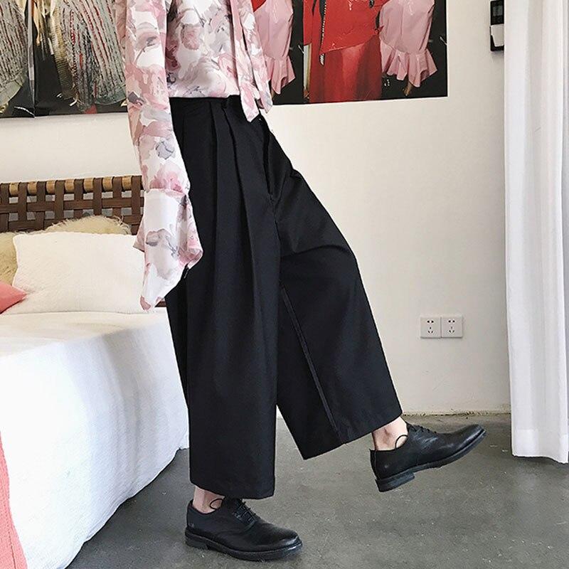 New Men Wide Leg Harem Pant Japan Style Casual Loose Trousers Male Kimono Pant