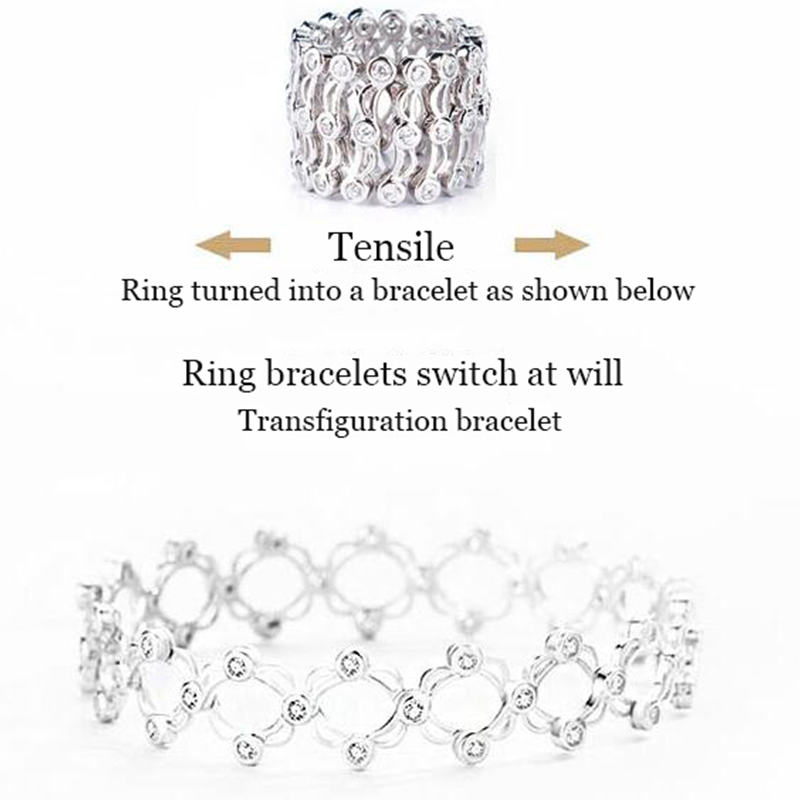 Волшебное кольцо браслет для пары моделей браслет 925 Серебряный Женский оригинальный дизайн кольцо ювелирные изделия Анель подарок Вечерн...