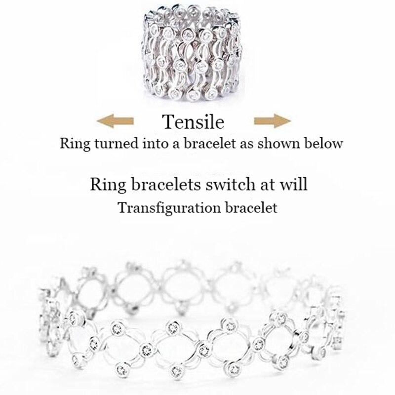 Волшебное кольцо браслет для пары модельные браслеты серебро 925 женский оригинальный дизайн ювелирные изделия Анель подарок Вечерние