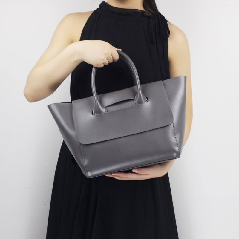 2017 Rushed Hobos Single 100% Guarantee New Female Genuine Leather Handbag Original Cowhide Solid Color Sewing Large Simple Bag 2016 new hobos 100