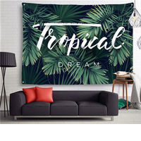 New Tropical Plants Tapestry Native Wall Hanging Art Shawl Throw Beach Towel Yoga Mat Blanket Mandala Bohemia Tapestry For Home