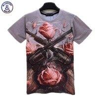 Mr.1991 INC Nieuwste Guns N Roses Logo T-shirt 3D Cool korte Koker Mannen/Vrouwen Design Hiphop Tops Casual Zomer kleding