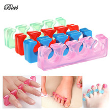 Bittb Silicone Toe Separater Pedicure Nail Polish Painting Finger Holder Anit-Hallux Valgus Toe Corrector Manicure Finger Fence