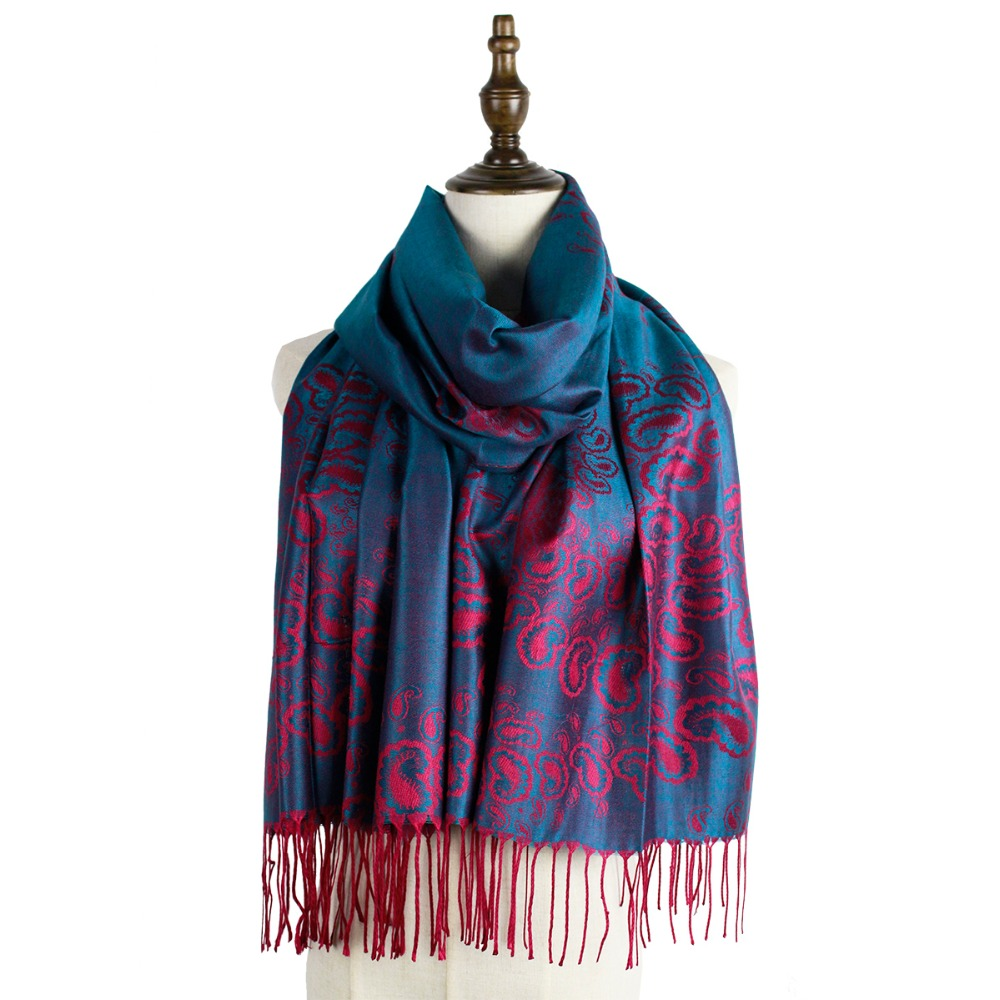 Jzhifiyer woven shawl fashion mujer scarves long capes  jacquard winter kashmir pashmina scarfs shawls hijab femme muffler stole
