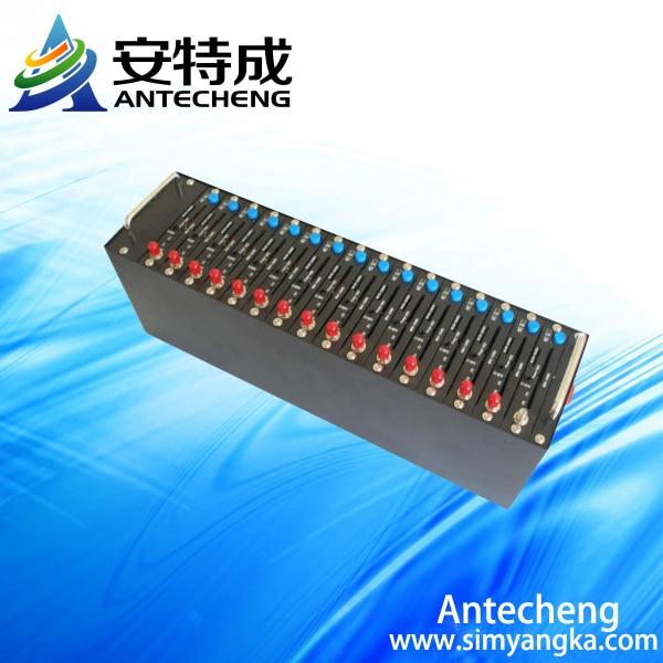 Free shipping 16 port modem pool Q2406 bulk sms modem pool