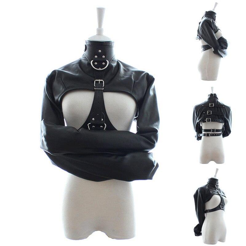 Adjustable Bondage BDSM Sex Toys For Women,Soft PU Leather Straitjacket,Adult Games Fetish Restraint Straight Jacket Sex Product