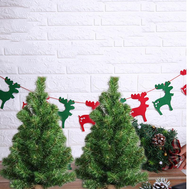 Miniature Artificial Christmas Trees: 1pcs 30CM Festival Miniature Christmas Tree Artificial