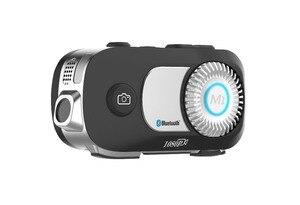 Image 5 - MORNYSTAR oreillette Bluetooth M1Pro, 2 pièces, appareil de communication pour 4 motocyclistes, interphone portée portée portée 800m, MP3, caméra enregistreur vidéo HD 1080P, kit mains libres