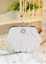 Mode Frauen Abendtaschen Perle Tag Clutches Frau Hochzeit Brautjungfer Partei Bankett Handtasche SMYCYX-E0036