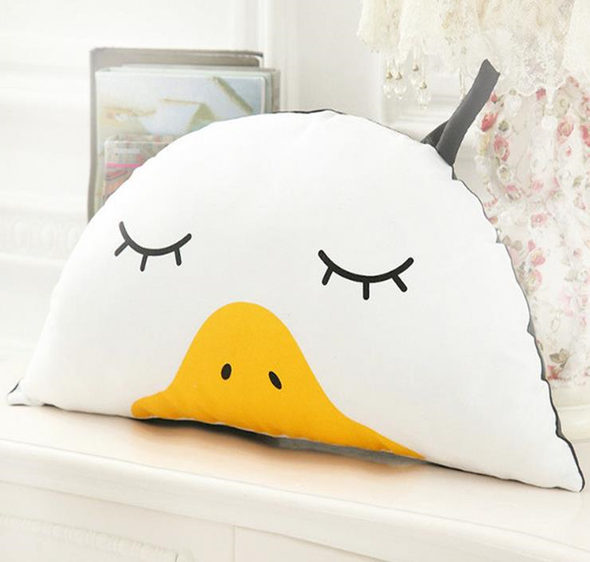 Baby Pillow Lovely Soft Duck Newborn Baby Pillow Children Room Decorations Cotton Cartoon Pattern Baby Pillow Animal Bedding