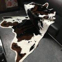 Gran tamaño 170x200cm estampado de vaca cuero de imitación piel antideslizante alfombra de impresión Animal para el hogar|Alfombra| |  -