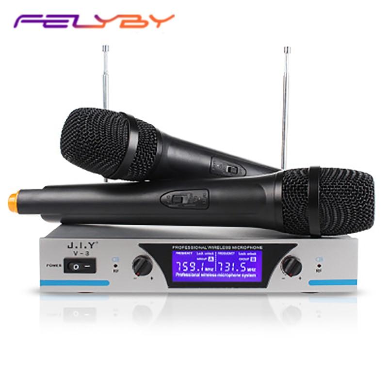 High quality VHF wireless microphone KTV karaoke session one for two wireless microphoneHigh quality VHF wireless microphone KTV karaoke session one for two wireless microphone
