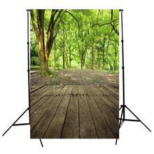 3x5FT Vinyl Photography Backdrop Wall Wood Floor Photo Background green(China)
