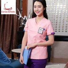 Hand wash clothes operating room nurses wear long sleeve dental doctor uniform suit
