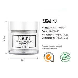 Image 5 - ROSALIND Dipping Powder Nail Set Glitter Natural Dry Holographic Powder Set Design Nail Art Decorations For Gel Polish Manicure