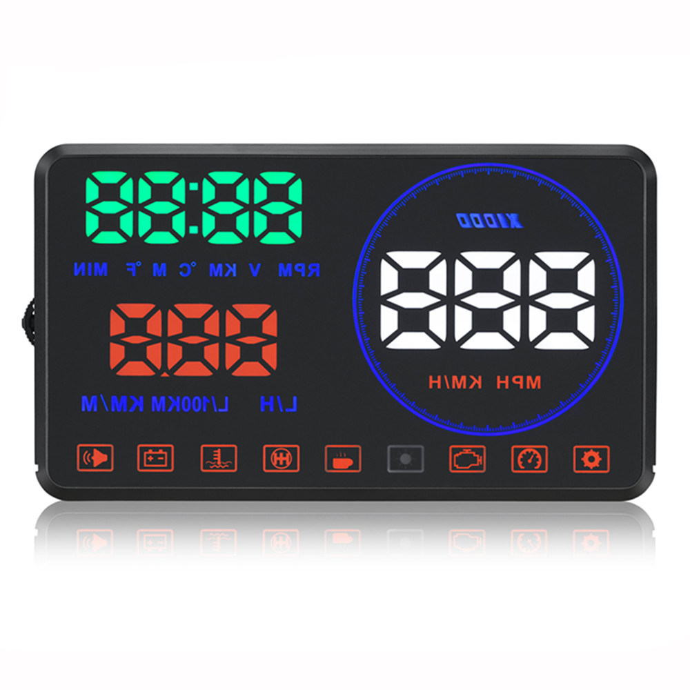 M9 new HUD Car Head Up Display car detector speed projector Projector on the windshield hud display
