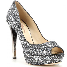 Shofoo Schuhe Frau Dunkelgrau Glitter Peep Toe Sexy Gridrent High Heels Plattformpumpen Zapatos Mujer Frauen Schuhe