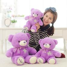 1PCS 1# 35CM Purple lavender teddy bear hug the bear doll The female bear doll plush toys for girl birthday