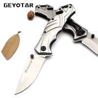 Stainless Survival Portable CS GO Knife Mini Key Edc Camping Tactical Folding Pocket Ring Outdoor Tools