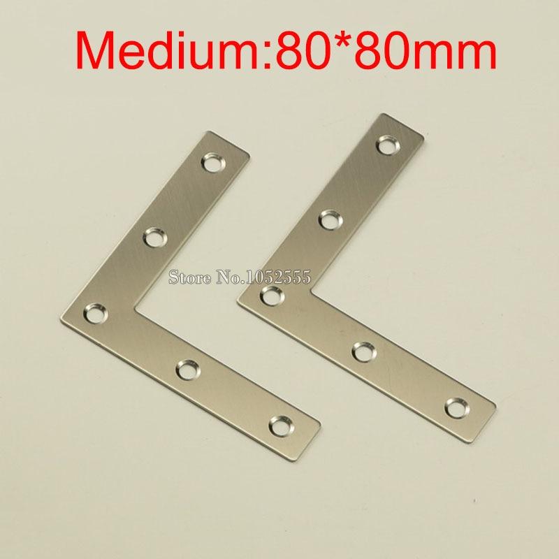 Hotsale 500PCS/LOT stainless steel angle corner brackets 80*80mm L ...