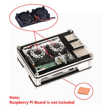 Promo offer Dual Fan Double Cooling Fans With Sliced 9 Layers Acrylic Case Box and Heatsink for Raspberry Pi 3/2 Model B/B+