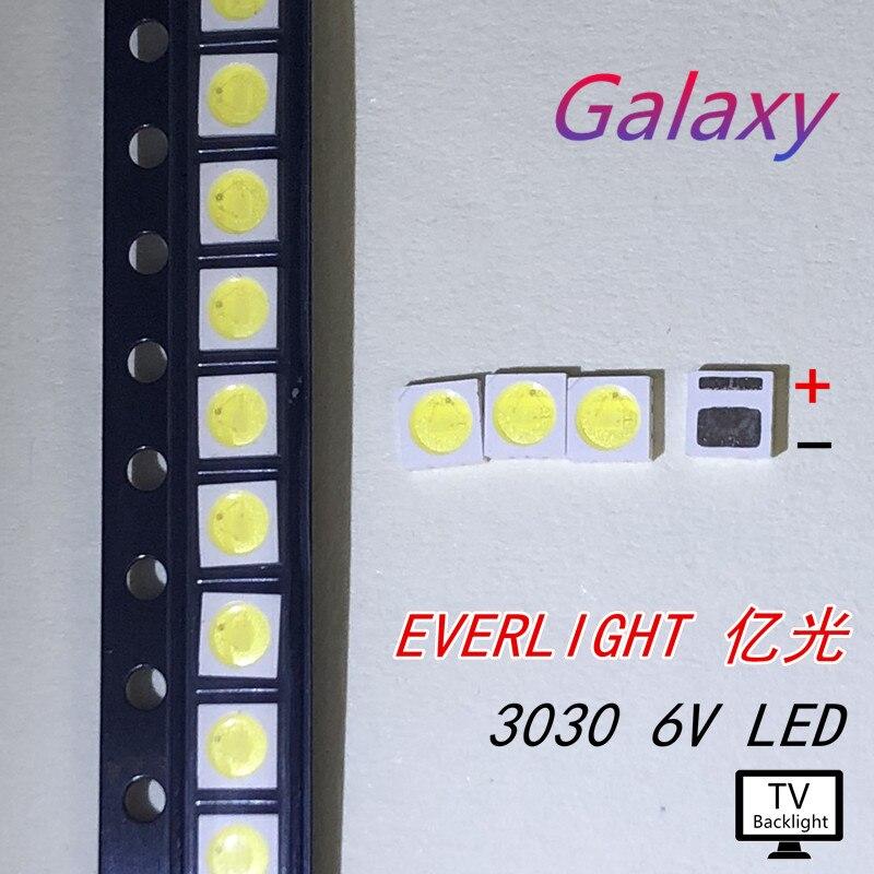 Glorious 30pcs Led Backlight High Power Led 1.8w 3030 6v Cool White 150-187lm Pt30w45 V1 Tv Application Light Beads