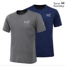 Free Shipping--2015 Terwsunsky News HQ Mens Outdoor Quick-drying Short-sleeve Running Hiking T-shirt T001
