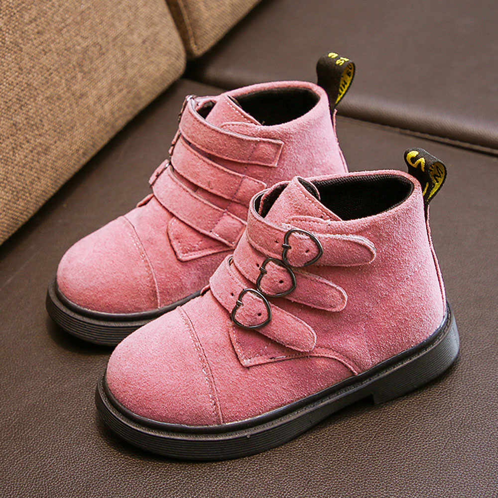 92800ad06beed Girls Boots Boys Shoes 2018 Autumn PU Leather Children Boots Fashion Toddler  Kids Boots Warm Winter