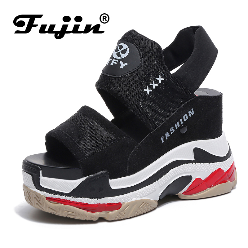 Fujin Sandals Platform-Shoes Wedge High-Heeled Female Sports Summer Women New Casual