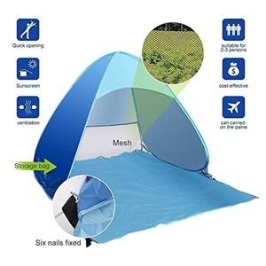 Image 3 - Tente de plage ultralégère pliante et ouverte automatique, pare soleil Anti UV, pour le Camping familial, expédition depuis RU