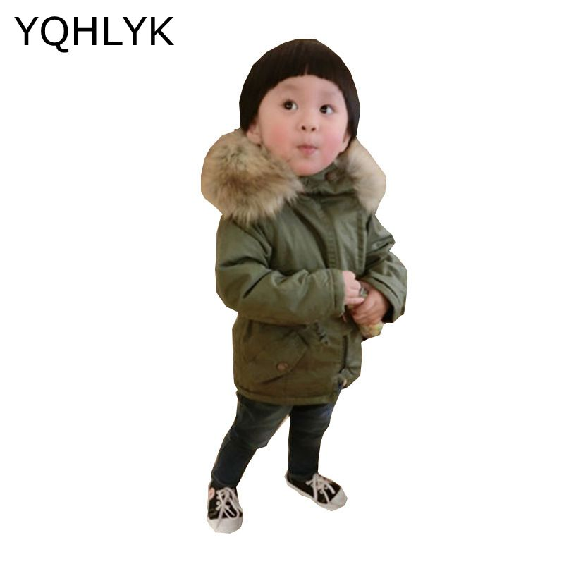 New Fashion Winter Cotton Baby Boy Girl Coat 2017 Children Thick Hooded Army Green Jacket Casual Warm Cute Kids Clothes W23 fashion cotton jacket coat for men army green l