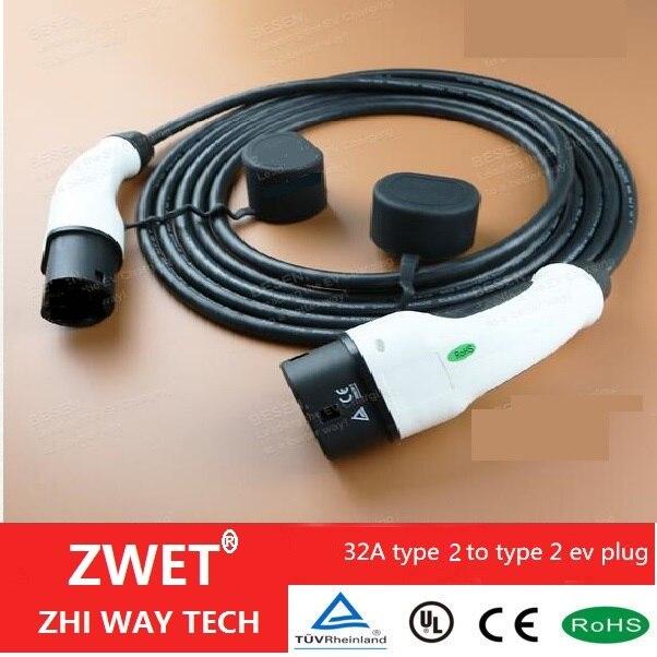 iec 62196 electric car charger cable type 2 mennekes 32. Black Bedroom Furniture Sets. Home Design Ideas