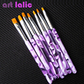 Venta caliente Profesional 7 Tamaños Gel UV Pintura Dibujo Cepillo set Nueva Moda Nail Art Brush Envío Libre 1 set/lot