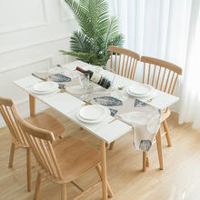 Bohemian Leaf Pattern Table Runner Modern Rural Style Home Decor Family Decoration Accessories Leave Place Mat