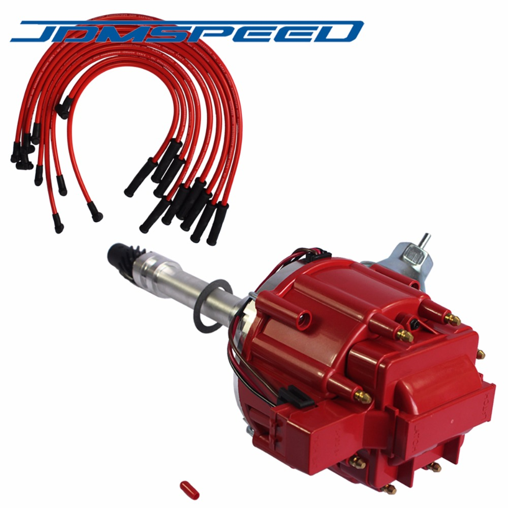 fit Chevy SBC 350 BBC 454 HEI Distributor Accel Spark Plug Wires Ignition Combo