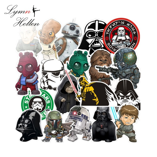 35pcs/lot Sticker Star Wars War Waterproof Fuel Cap Creative For Skateboard Laptop Luggage Home Toy Stickers Paper Squishy slime