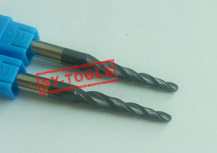 2 PZ R1.5 * D6 * 30.5 * 75L * 2F HRC55 Frese in metallo duro conica - Macchine utensili e accessori - Fotografia 2