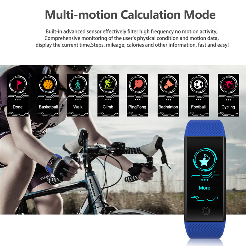 BW Fitness Smart Bracelet weather Heart Rate Monitor Blood Pressure Fitness Tracker Smart band Sport Watch for ios android Swim 2
