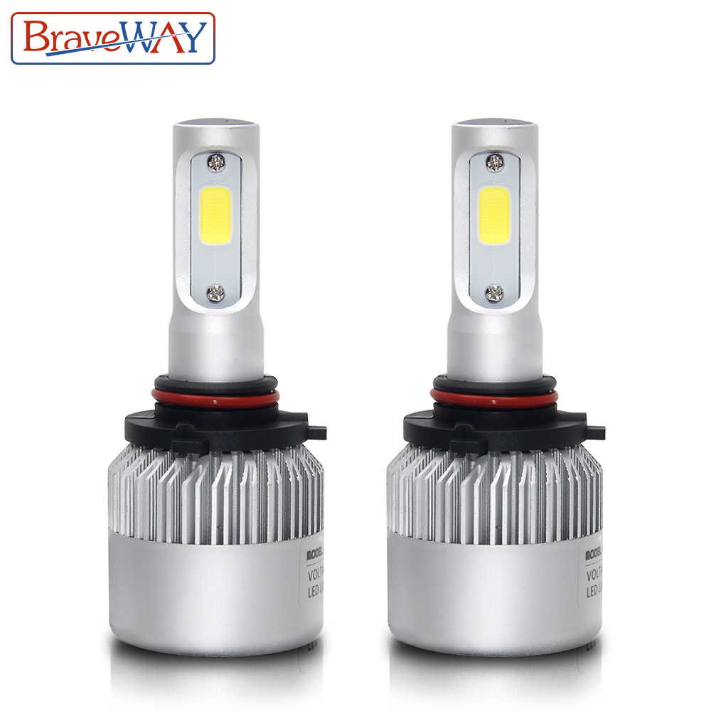 BraveWay S2 LED Headlight Bulbs H1 H3 H4 H7 H8 H9 H11 H13 9005 9006 9007 H4 LED Bulbs for Car Motorcycle Fog Lights