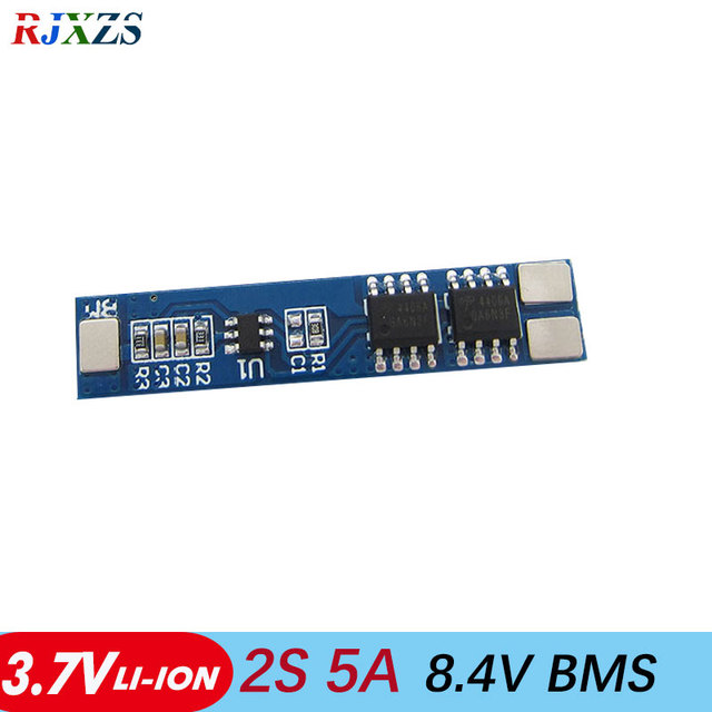 2pcs/a lot 2S 5A Li-ion 7.4v  8.4V 18650 BMS PCM  battery protection board bms pcm  for li-ion lipo  battery cell pack